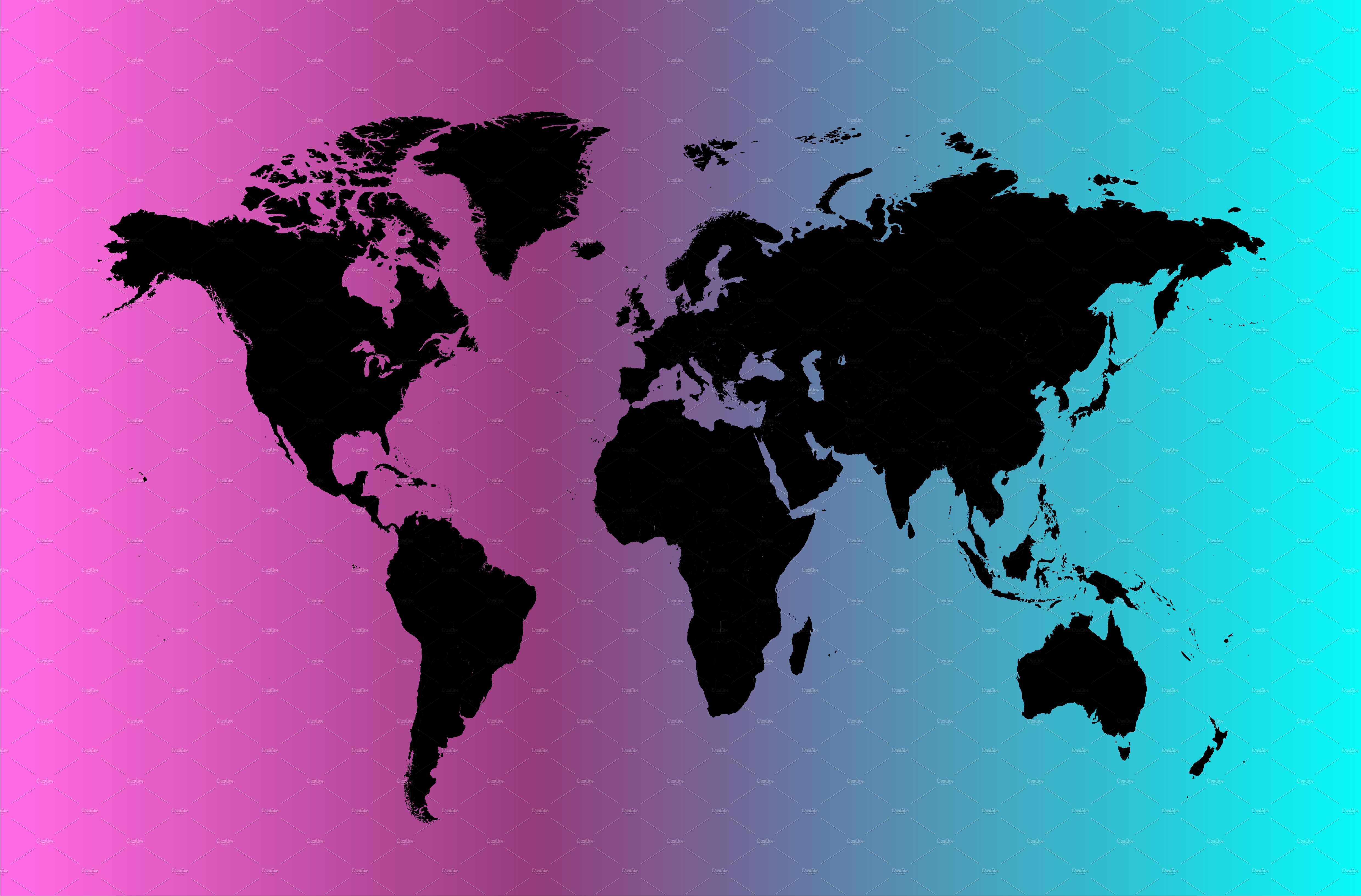 World map neon light web elements creative market gumiabroncs Image collections