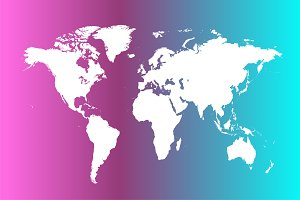 World map neon light vector