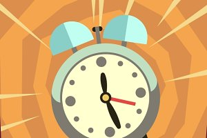 Wake up vector background