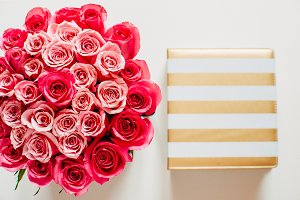 Roses with gold stripes agenda