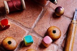 Handmade with beads