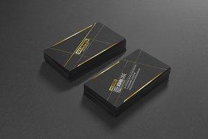 Golden Nova typography business card
