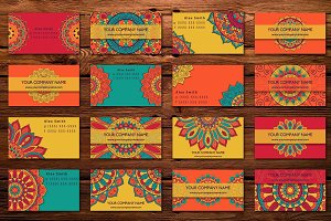 Business card with mandala design