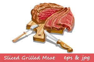 Sliced Grilled Meat
