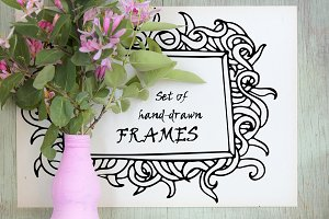 Hand-drawn frames collection