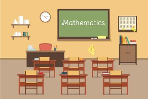 Illustration of mathematic classroom