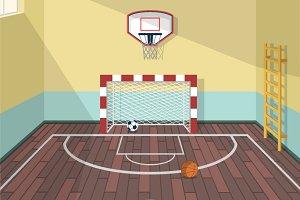 Illustration of sport room
