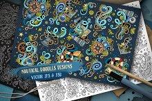 Nautical Doodles Designs Set
