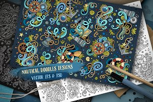 Nautical Doodles Designs Set