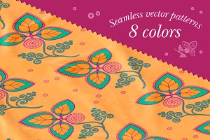 Seamless vector patterns. 8 colors