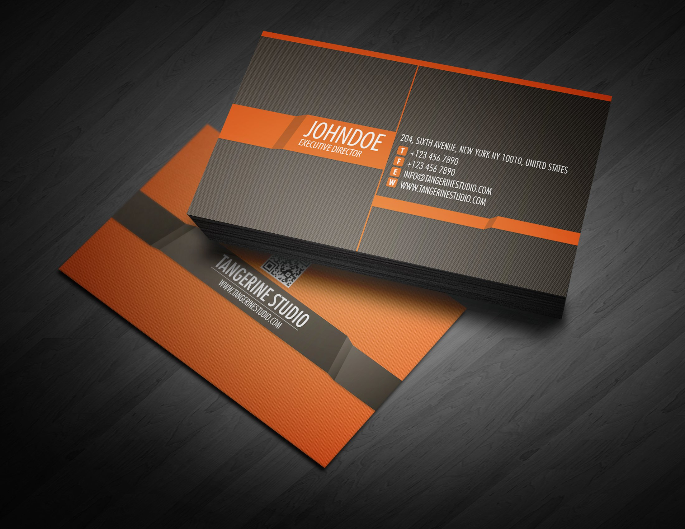Tangerine Studio business card ~ Business Card Templates ~ Creative ...