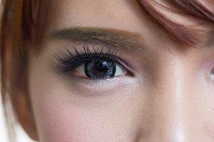 Close-up eye women