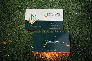 m house business card