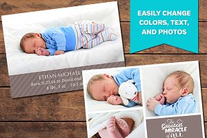Miracle Birth Announcement Template