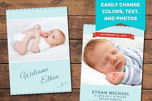 Glee Birth Announcement Template