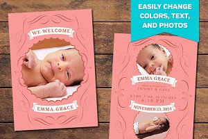 Charmed Birth Announcement Template