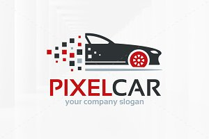 Pixel Car Logo Template