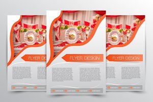 Flyer design. Brochure template.