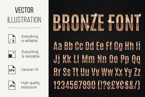 Bronze font