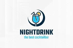 Night Drink Logo Template