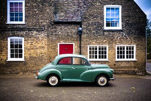 The green car and the red door