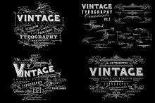 Vintage Typography Ornaments v3