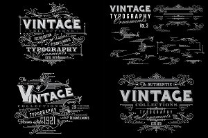 Vintage Typography Ornaments v3