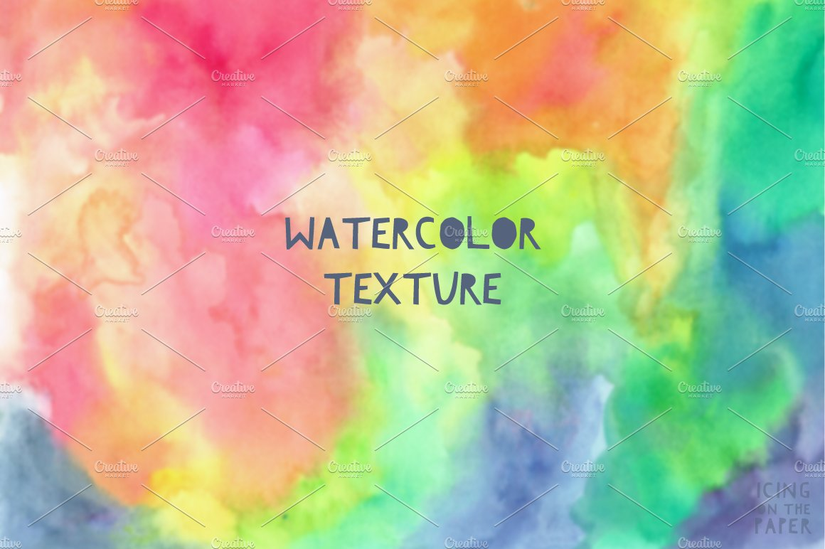 Rainbow Watercolor Paper Textures Creative Market