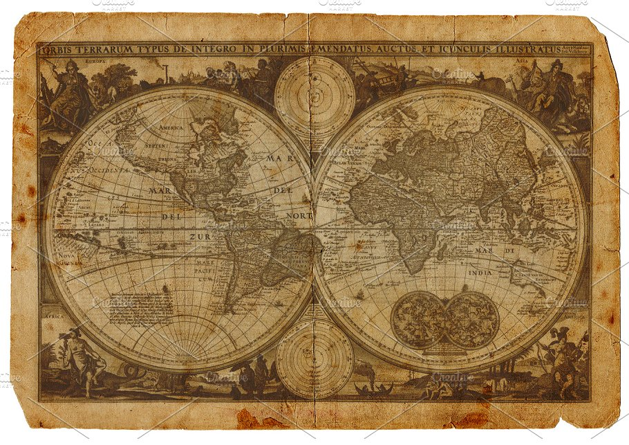 Beautiful Vintage Maps For All Your Retro Designs Creative - Printable antique world map