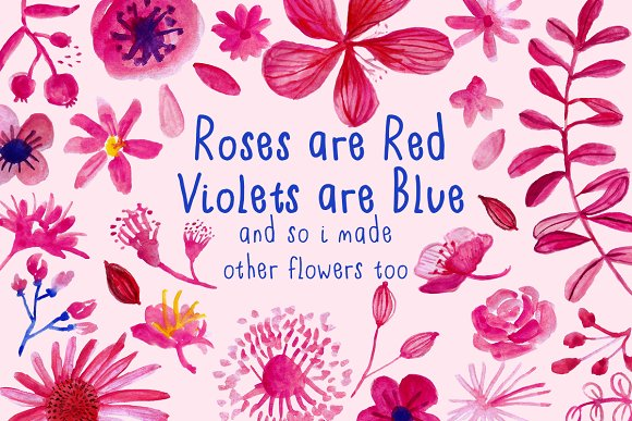 roses are red violets are blue illustrations creative market