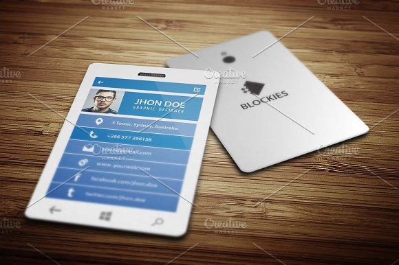 Smart Phone Business Card V5