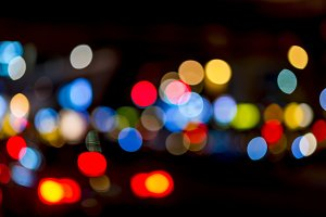 Bokeh traffic light
