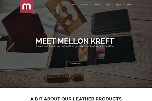 Mellon - One Page Store Template PSD