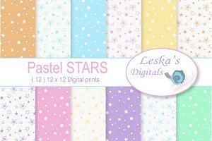 Pastel Stars Digital Paper