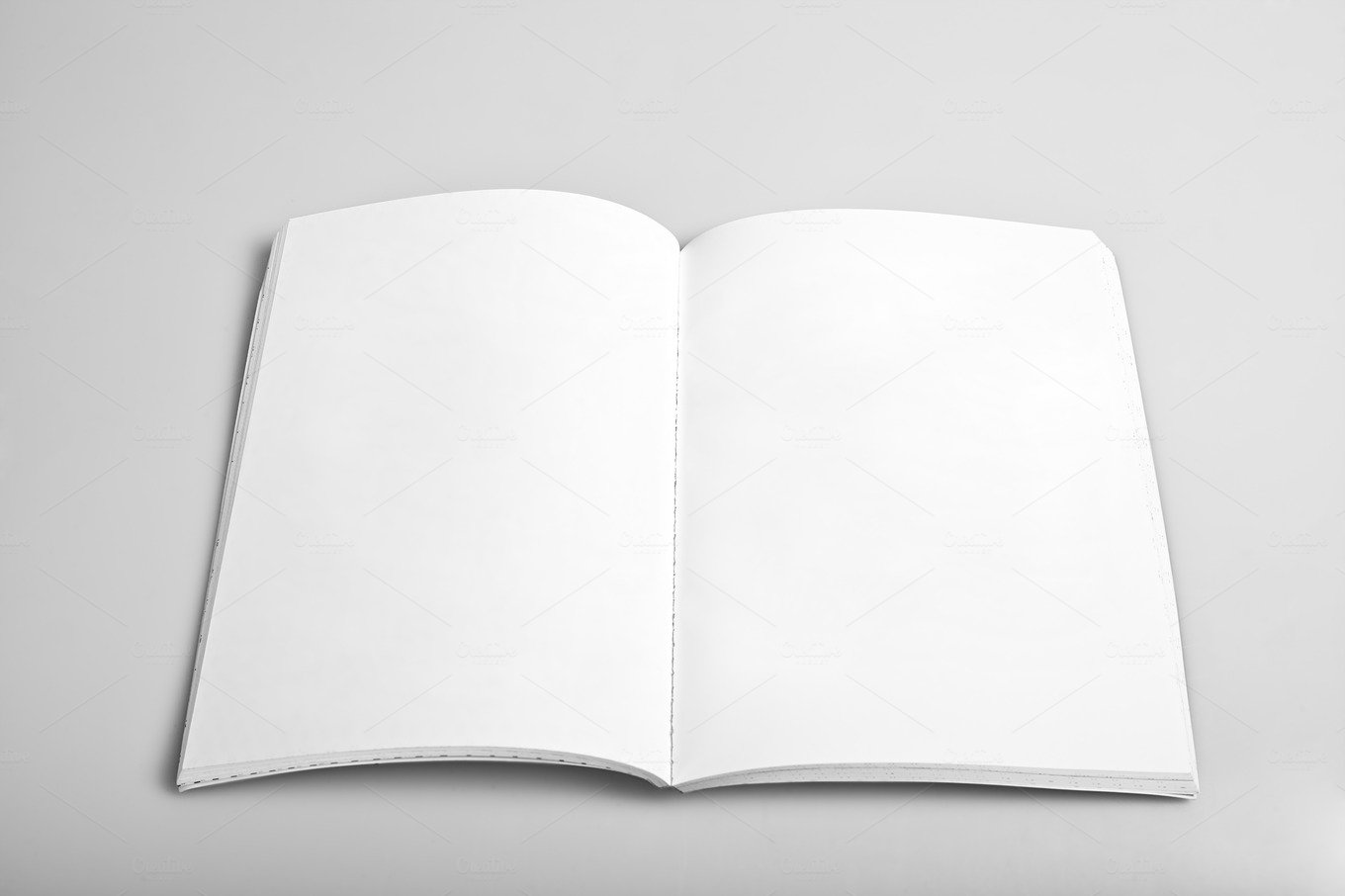 Open Magazine With Blank Pages Business Images Creative Market