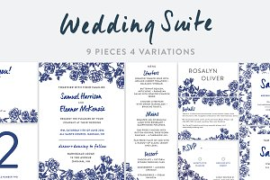 Vintage Flower Wedding Invitation