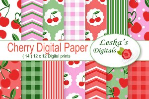 Cherries Digital Paper