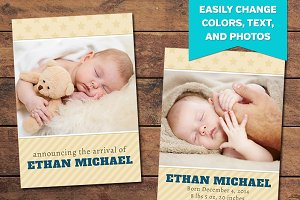 Cherish Birth Announcement Template