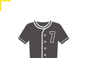 Baseball t-shirt icon. Vector
