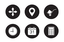 Transportation service icons. Vector
