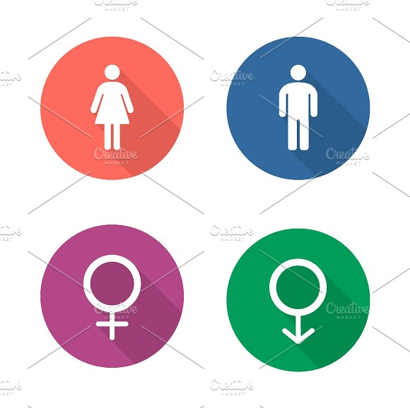 Gender symbols icons. Vector - Icons