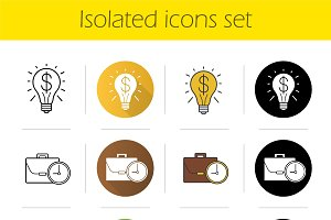 Business concepts icons set. Vector