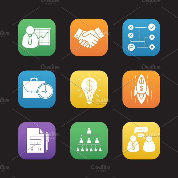 Business icons. Vector - Icons