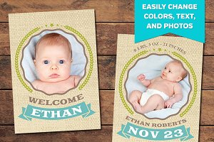 Embrace Birth Announcement Template