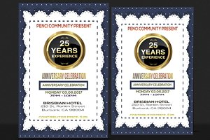 Anniversary and Party Flyer
