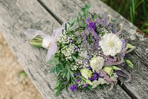 Bridal Bouquet, Purple and Lavender