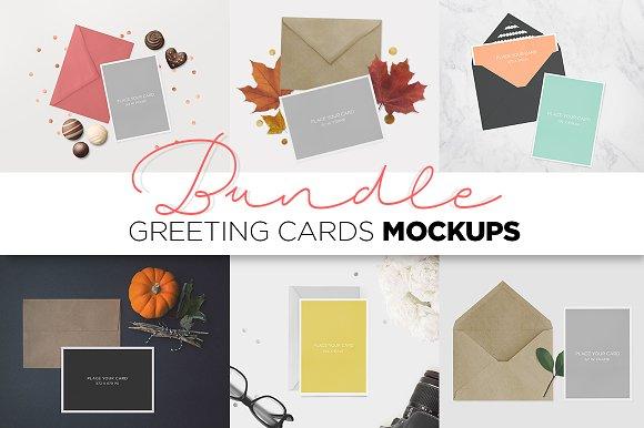 Download Greeting Cards Mockup BUNDLE
