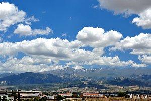 landscape, mountains, clouds,sky