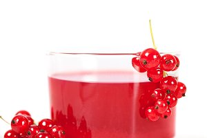 Red currant drink in glass