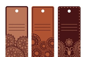 Ethnic design labels set